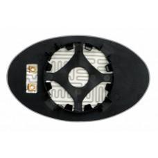 Элемент зеркала MINI Cooper I 2001-н вр левый асферический с обогревом 64330106