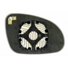 Элемент зеркала VOLKSWAGEN Passat B6 2005-н вр левый плоский с обогревом 93600507